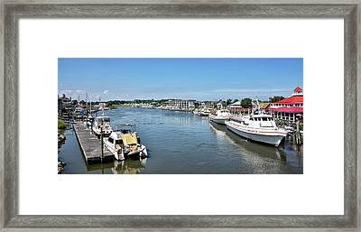 Framed Print featuring the photograph Lewes Delaware by Brendan Reals