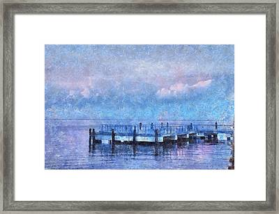 Framed Print featuring the mixed media Lewes Pier by Trish Tritz