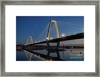 Framed Print featuring the photograph Lewis And Clark Bridge - D009999 by Daniel Dempster