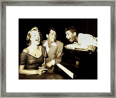 Lewis And Martin And  Rosemary Clooney 1950s Framed Print by N B C