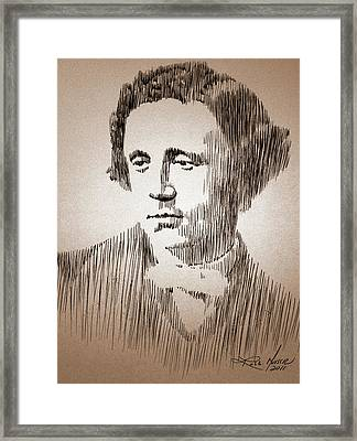 Lewis Carroll Framed Print by Robbi  Musser