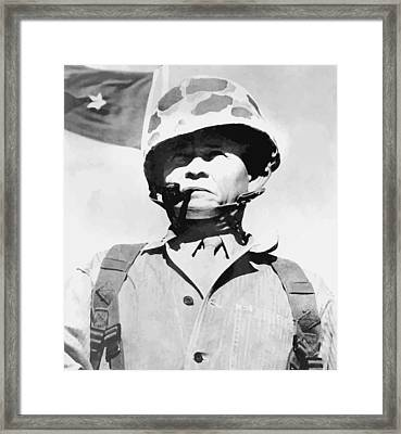 Lewis Chesty Puller Framed Print by War Is Hell Store