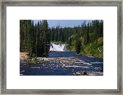 Lewis Falls Yellowstone Framed Print