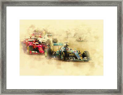 Lewis Hamilton Leads Again Framed Print