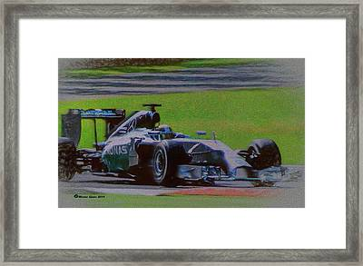 Lewis Hamilton Framed Print by Marvin Spates
