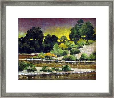 Lewis River At Woodland Framed Print