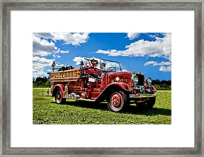 Lewiston Fire Truck Framed Print