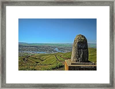 Lewiston Hill Memorial Framed Print by Robert Bales