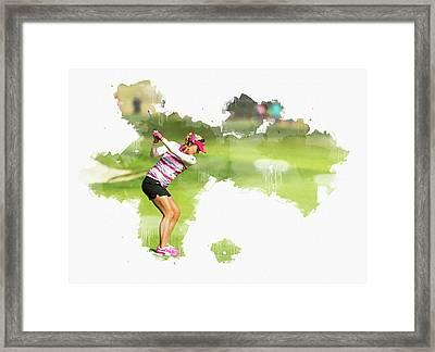 Lexi Thompson Framed Print by Don Kuing