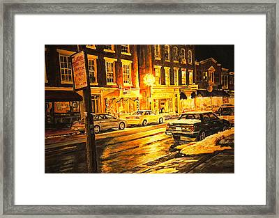 Lexington Street Light Framed Print by Thomas Akers