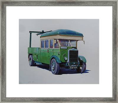 Leyland Southdown Wrecker. Framed Print by Mike Jeffries