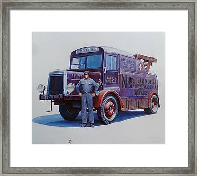Leyland Wrecker 1930. Framed Print by Mike  Jeffries