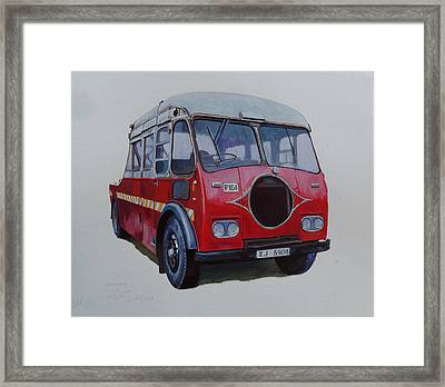 Leyland Wrecker Cie Framed Print by Mike Jeffries