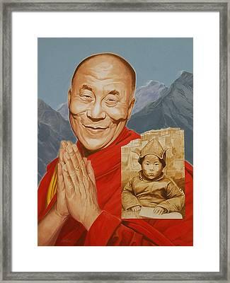 Lhamo Thondup Becomes Kundun Framed Print by Shawn Shea
