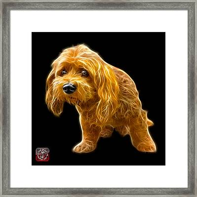 Framed Print featuring the painting Lhasa Apso Pop Art - 5331 - Bb by James Ahn