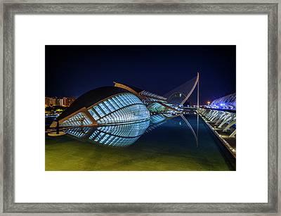 L'hemisferic In Valencia Framed Print by Pablo Lopez