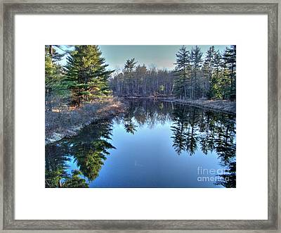 Framed Print featuring the photograph L'heure Bleu by Betsy Zimmerli