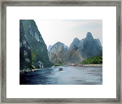 Li River China Framed Print by Marie Dunkley