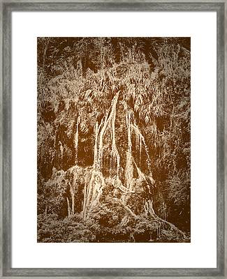 Framed Print featuring the photograph Li River Waterfall by Tom Vaughan