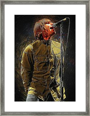 Liam Gallagher Oasis Framed Print