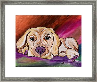 Liam My Golden Friend    Framed Print by Janice Rae Pariza