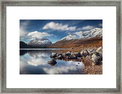 Framed Print featuring the photograph Liathach by Grant Glendinning