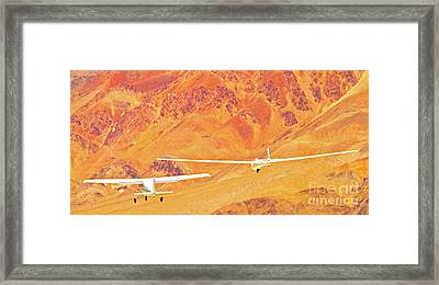 Libelle Sailplane On Tow Framed Print