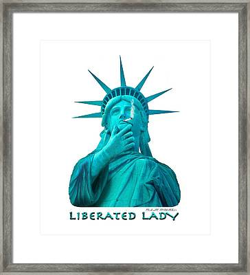 Liberated Lady 3 Framed Print