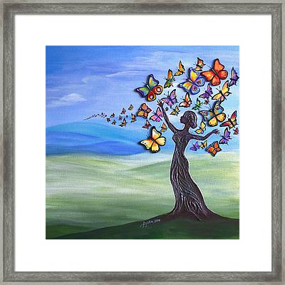 Liberation Of Inner Beauty Framed Print