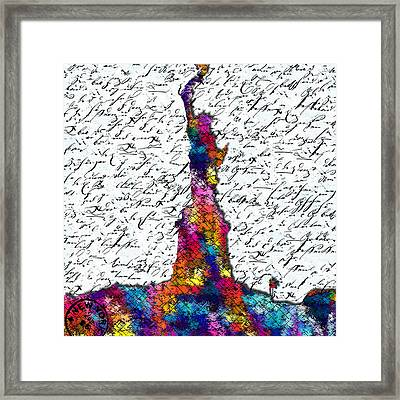 Liberty - New York Framed Print by Nils Denker