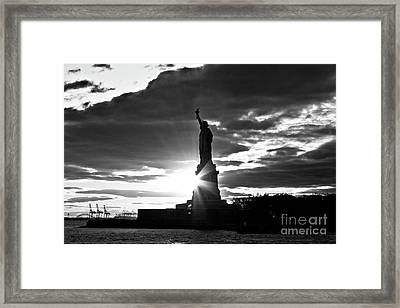 Framed Print featuring the photograph Liberty by Ana V Ramirez