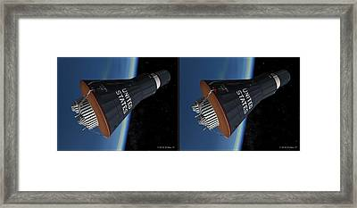 Liberty Bell 7 - Gently Cross Your Eyes And Focus On The Middle Image Framed Print by Brian Wallace