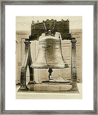 Liberty Bell At Independence Hall 1901 Framed Print by Padre Art