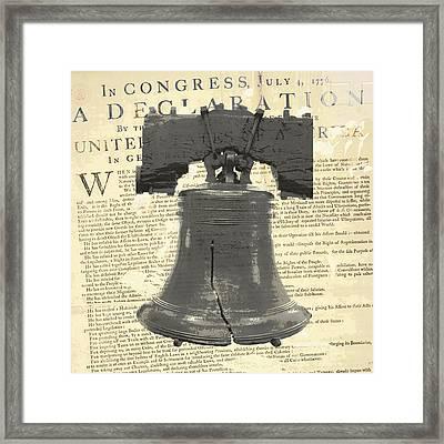 Liberty Bell Framed Print by Brandi Fitzgerald