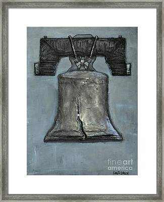 Liberty Bell - Gray Muted Tone Framed Print