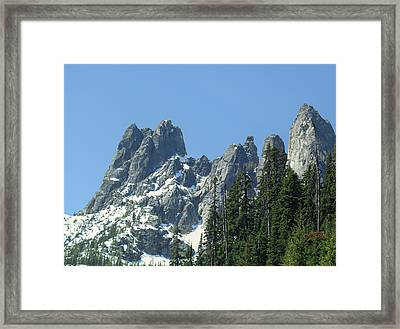 Liberty Bell Mountain Framed Print by Dan Sproul