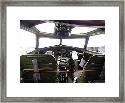 Liberty Belle B17 Cockpit Framed Print