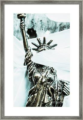 Liberty Blinded By Corruption Framed Print by Jorgo Photography - Wall Art Gallery