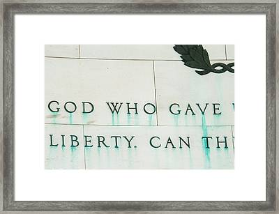 Liberty Framed Print