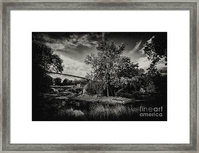 Liberty Bridge Greenville Sc Framed Print