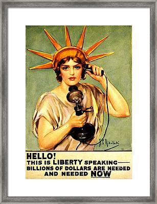 Liberty Calling Framed Print