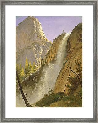 Liberty Cap, Yosemite Valley Framed Print by Albert Bierstadt