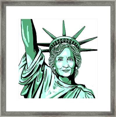 Liberty Hillary Framed Print by Konni Jensen