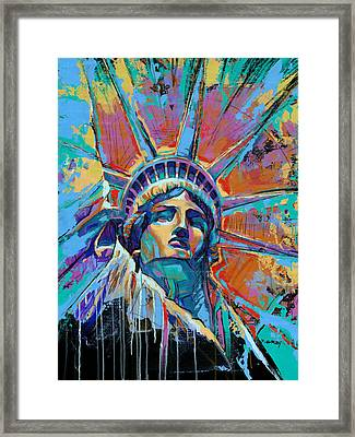 Liberty In Color Framed Print by Damon Gray