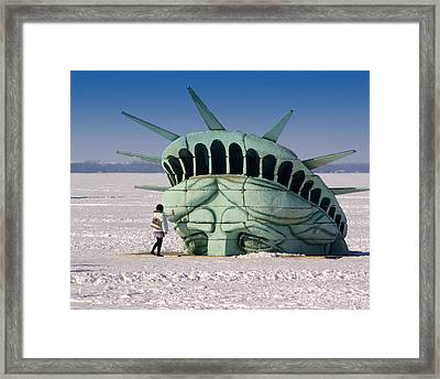 Liberty Framed Print by Linda Mishler