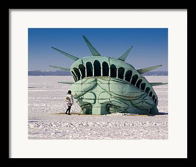New York Snow Framed Prints