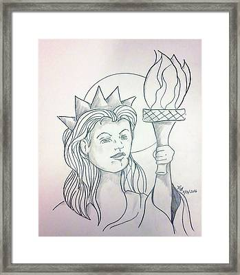 Liberty Framed Print by Loretta Nash