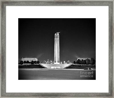Liberty Memorial In Kansas City Bw Framed Print