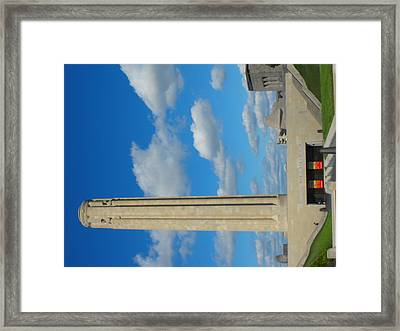 Liberty Memorial On A Perfect Day Framed Print