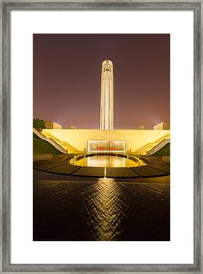 Liberty Memorial On July 24 2015 Framed Print by Tommy Brison